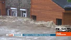 RTL INFO 13H : Inondations: les sinistrés de la vallée de la Vesdre exigent des ré...