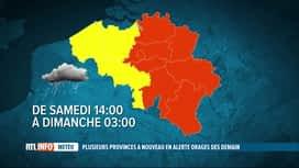 RTL INFO 19H : L'IRM émet une alerte orange liées aux orages attendus demain après...