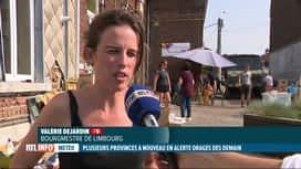 RTL INFO 19H : Orages: la commune de Limbourg évacue une partie de sa population