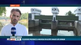 RTL INFO 19H : Orages: la barrage de la Vesdre à Eupen va-t-il relâcher de l'eau?