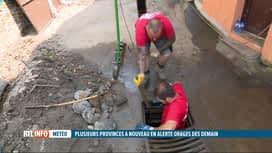 RTL INFO 19H : Inondations: nettoyage des égouts avant l'arrivée de nouveaux orages