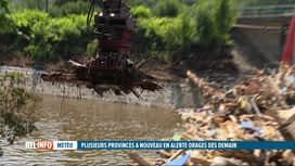 RTL INFO 19H : Inondations: la Vesdre doit être nettoyée des tonnes d'arbres et de...