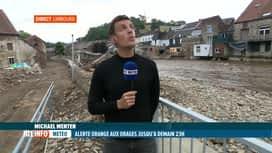 RTL INFO 19H : Nouvelles intempéries: Michael Menten est à Limbourg, qui a évacué ...