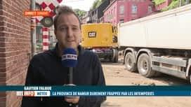 RTL INFO 13H : Inondations: le bilan humain et matériel à Dinant