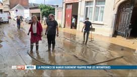 RTL INFO 13H : Inondations: importants dégâts matériels aux abords de la gare de N...