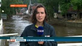 RTL INFO 19H : Inondations: un 37ème décès est à déplorer