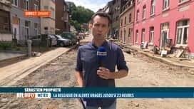 RTL INFO 13H : Inondations: la situation sur le terrain ce midi à Dinant