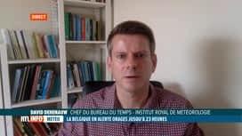 RTL INFO 13H : Intempéries: le point ce midi avec notre prévisionniste David Dehenauw