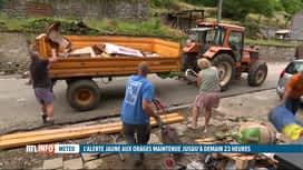 RTL INFO 19H : Inondations: poursuite des travaux de déblaiement aujourd'hui à Dinant