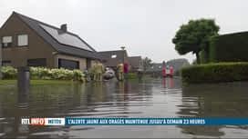 RTL INFO 19H : Intempéries: la Flandre occidentale victime de violents orages ce m...