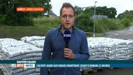 RTL INFO 19H : Inondations: la cellule de crise locale maintenue en province de Namur