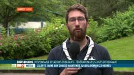 RTL INFO 19H : Interdiction des camps en Namurois: réaction de Gilles Beckers