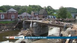 RTL INFO 13H : Inondations: l'accès au hameau de la Raye, le long de la Vesdre, es...