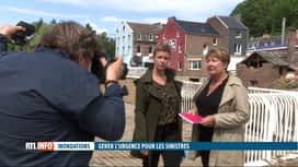 """RTL INFO 13H : Inondations: visite des deux """"commissaires à la reconstruction"""" à P..."""