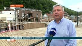 RTL INFO 13H : Inondations: des maisons doivent être démolies à Pepinster