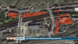 RTL INFO 13H : Inondations: Pepinster a dressé la liste des maisons qui seront dém...