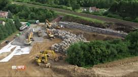 RTL INFO 13H : Inondations: toujours pas de trains roulant entre Gembloux et Ottig...