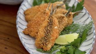 Carpaccio et beignets de sardines