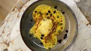 Lasagnes au saumon et omelette sucrée tornado