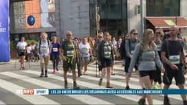 RTL INFO 13H : Les 20 KM de Bruxelles ouverts pour la 1e fois aux marcheurs