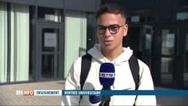 RTL INFO 13H : Rentrée universitaire: les étudiants sont heureux de revenir sur place