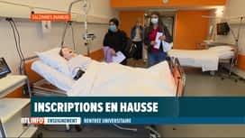 RTL INFO 13H : Rentrée universitaire: les études en soins infirmiers ont du succès