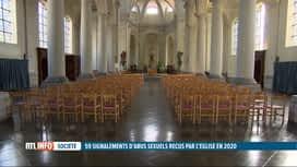 RTL INFO 19H : 59 signalements d'abus sexuels reçus par l'Eglise en 2020