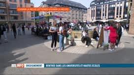 RTL INFO 19H : Rentrée universitaire en présentiel: un soulagement pour les étudiants