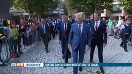 RTL INFO 19H : Le Roi inaugure la rentrée universitaire à Louvain-la-Neuve