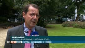 RTL INFO 19H : Hausse du prix de l'énergie: le point avec Bruno Colmant