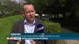 RTL INFO 19H : A quoi est due l'augmentation des prix de l'énergie?