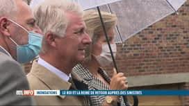RTL INFO 13H : Inondations, 2 mois après: le Roi et la Reine ont rencontré des sin...