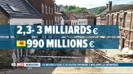 RTL INFO 19H : Inondations, 2 mois après: détail des mesures d'aides financières w...