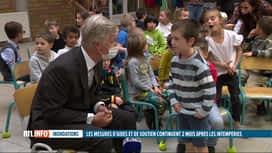 RTL INFO 19H : Inondations, 2 mois après: le Roi et la Reine ont rencontré des sin...