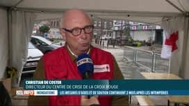 RTL INFO 19H : Inondations, 2 mois après: la Croix-Rouge a reçu 40 millions...