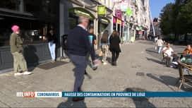 RTL INFO 13H : Coronavirus: des contaminations en forte hausse en province de Liège