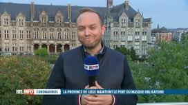 RTL INFO 19H : Le port du masque reste obligatoire en province de Liège