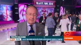 RTL INFO 13H : 33e Télévie: Philippe Delusinne salue le résultat de l'opération