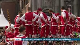 RTL INFO 19H : Les échasseurs étaient de retour pour les Fêtes de Wallonie à Namur