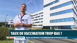 RTL INFO 19H : Hausse inquiétante des cas de Covid en province de Liège