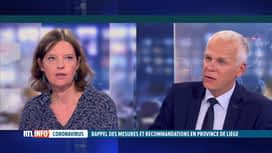 RTL INFO 19H : Hausse des cas Covid: l'avis de Catherine Linard