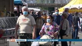 RTL INFO 13H : Difficile de mettre en place le Covid Safe Ticket en province de Liège