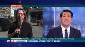 RTL INFO 13H : Le monde culturel bruxellois pas très favorable au Covid Safe Ticket