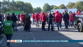 RTL INFO 13H : Le site de Logistics Nivelles toujours bloqué par les travailleurs
