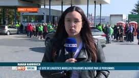 RTL INFO 13H : Le point chez Logistics Nivelles où le site est bloqué par le perso...