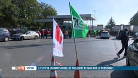 RTL INFO 19H : Le site de Logistics Nivelles toujours bloqué par les travailleurs