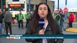 RTL INFO 19H : Le blocage persiste chez Logistics Nivelles mais la tension baisse