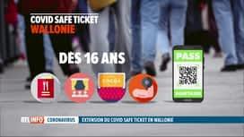 RTL INFO 19H : Le Covid Safe Ticket généralisé en Wallonie dès la mi-octobre