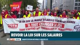 RTL INFO 13H : Manifestation nationale: des milliers de personnes à Bruxelles ce midi