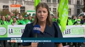 RTL INFO 13H : Manifestation nationale: la CSC organise une action à Liège